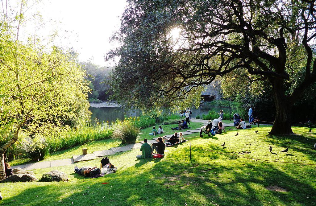 Uma parte dos jardins Gulbenkian. Foto: João Pimentel Ferreira / Wikimedia Commons