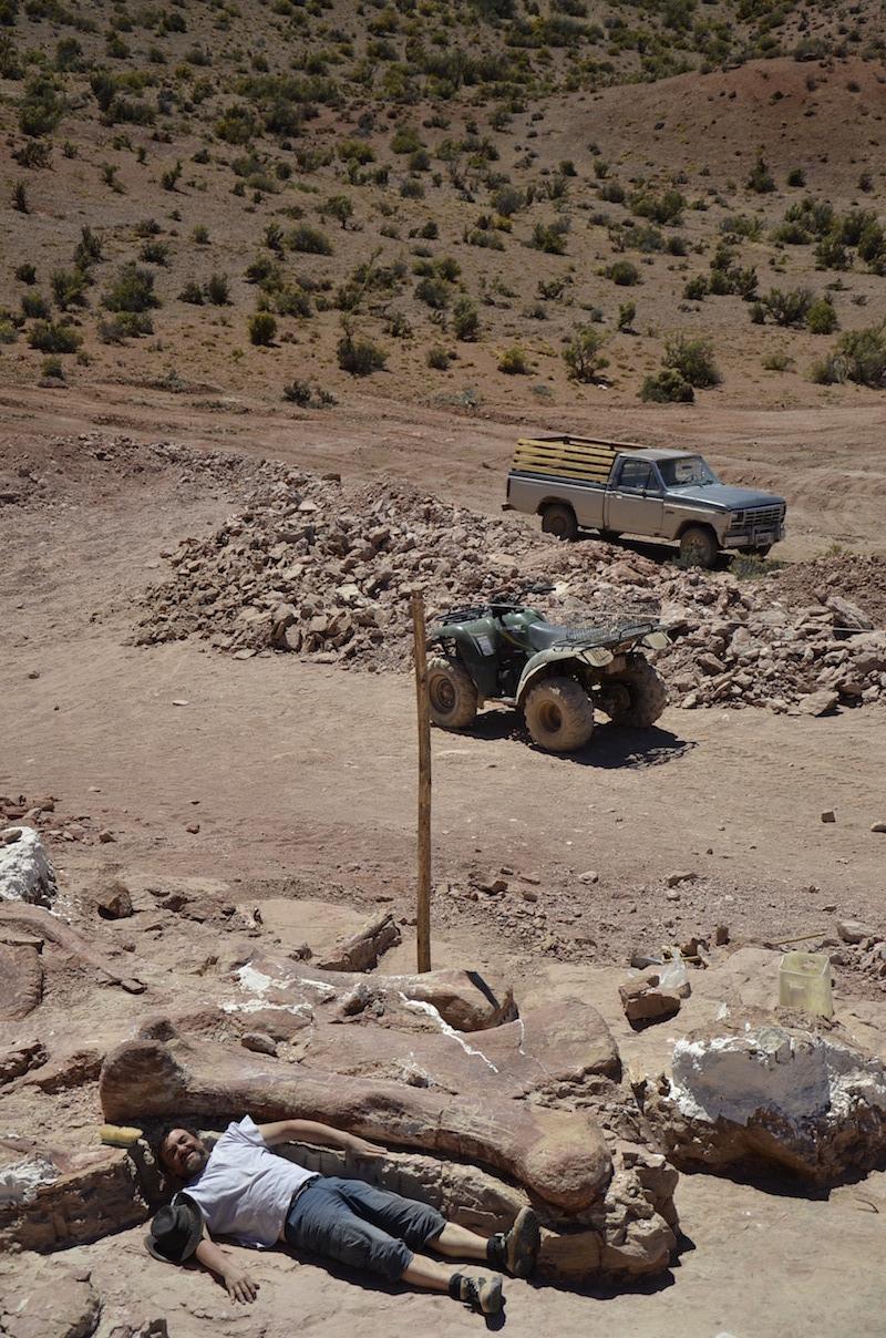 Local da escavação. Foto: Dr. Alejandro Otero