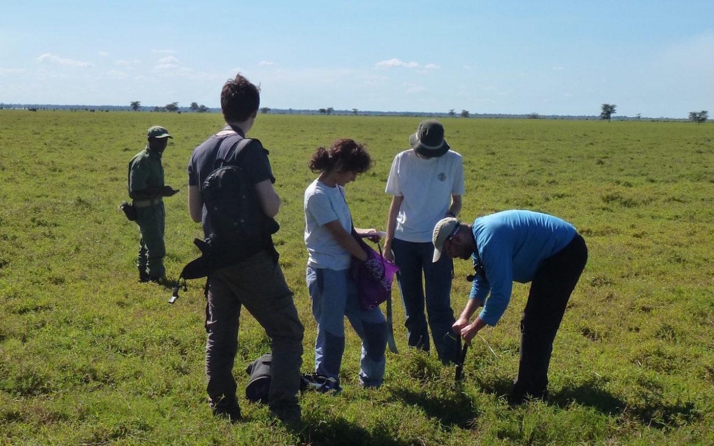 Trabalho de campo no Parque Nacional da Gorongosa