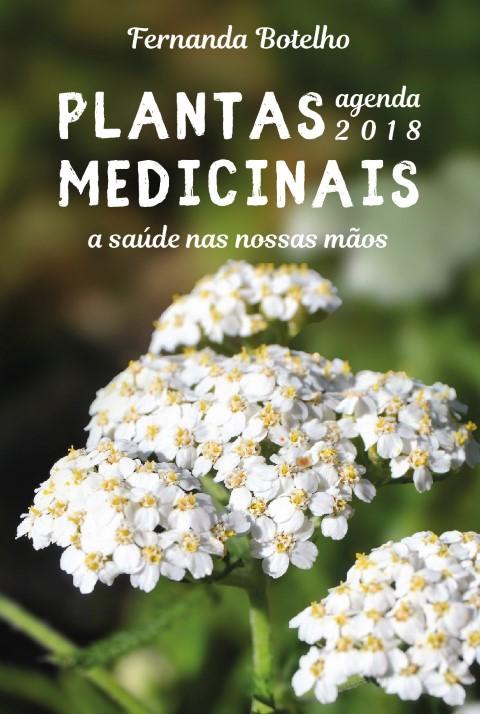 Capa de agenda com planta de flores brancas