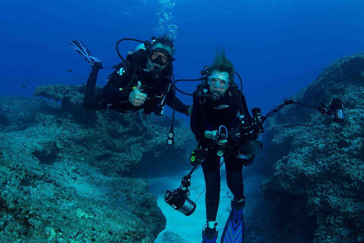 Sylvia Earle num mergulho partilhado