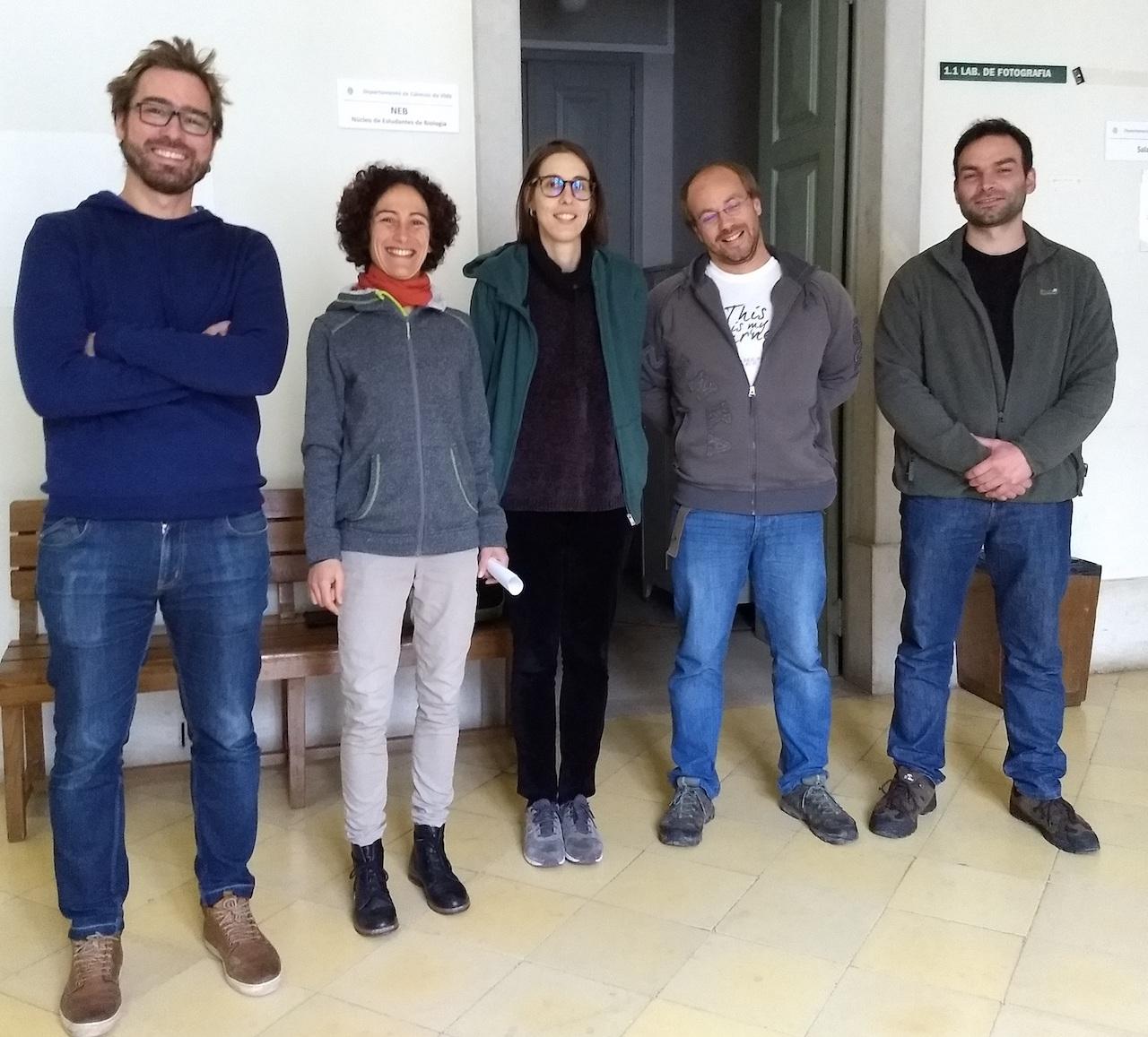 os cinco investigadores